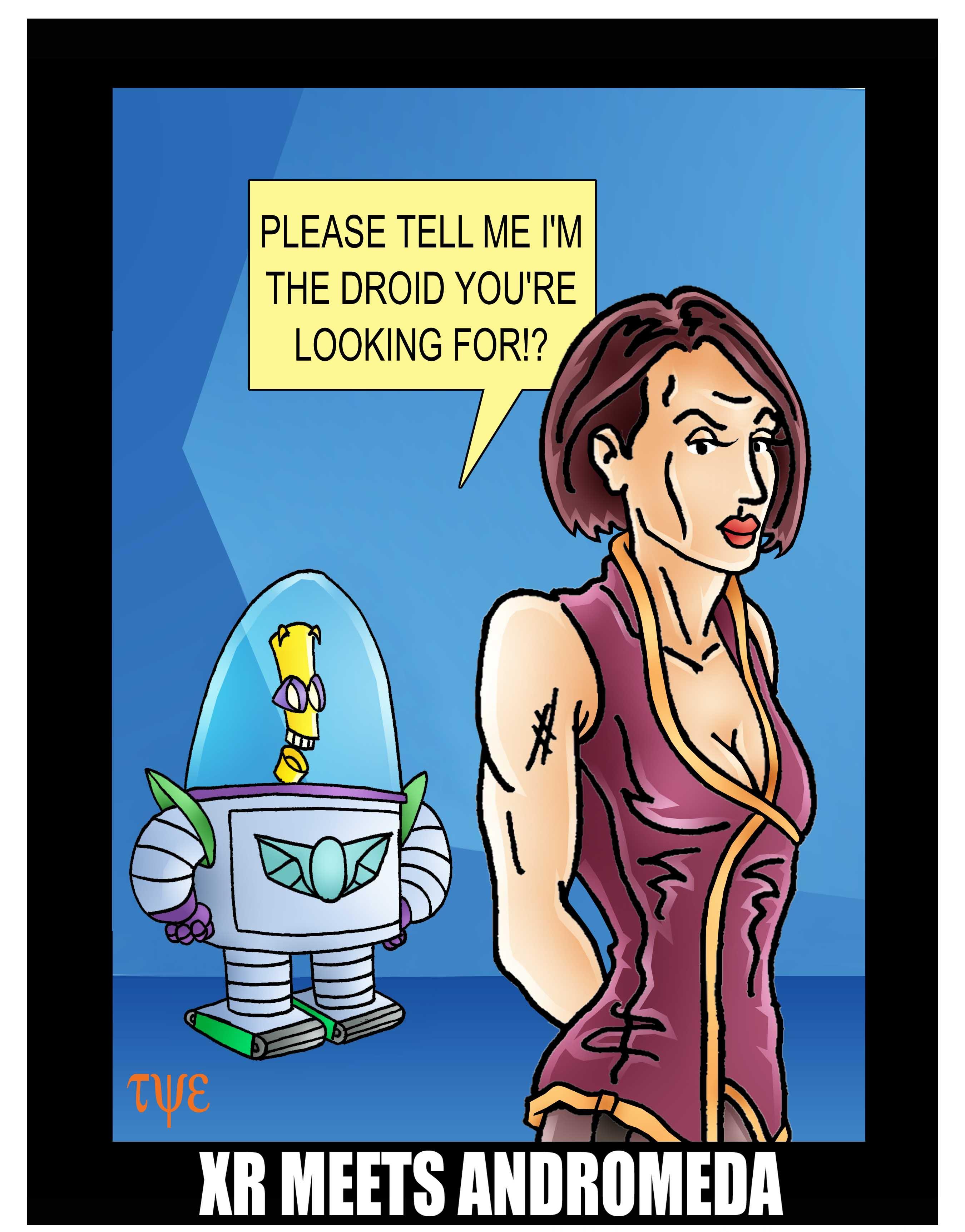 Lighter Side Of Scifi Xr Meets Andromeda Scifislacker Com